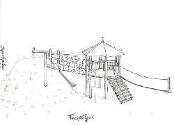 Hernádnémeti közterületi játszótér - terv