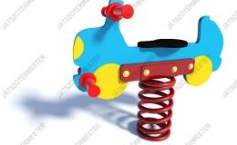 Rugós játékautó